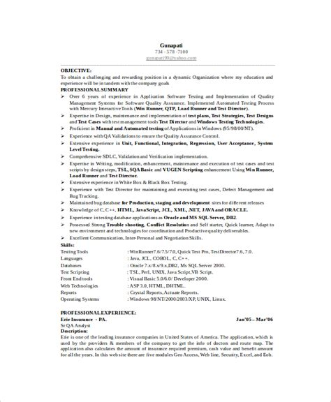 software testing resume software engineer resume template 6 free word pdf