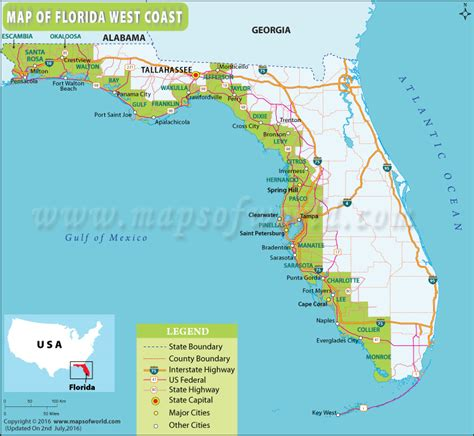 florida west coast map map of gulf coast florida world map 07