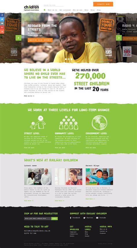 nonprofit web design inspiration 35 best charity and non profit websites inspiration web