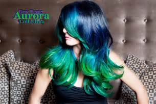 blue green hair color blue green ombre hair color