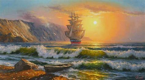 cuadros de marinas pintadas al oleo marinas al oleo pinturas marinas pinterest marina