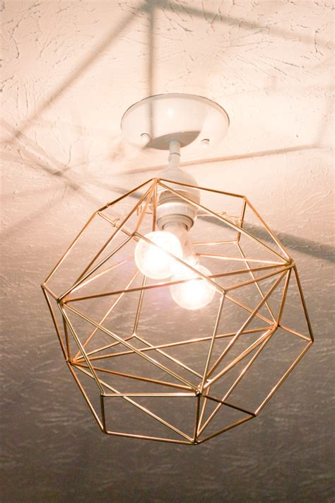 diy geometric pendant light diy geometric pendant light erin spain