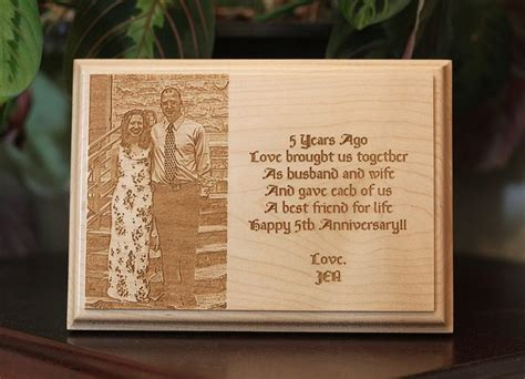 5th Wedding Anniversary Engraving Ideas by 5th Anniversary Wood In A Flash Laser Laser
