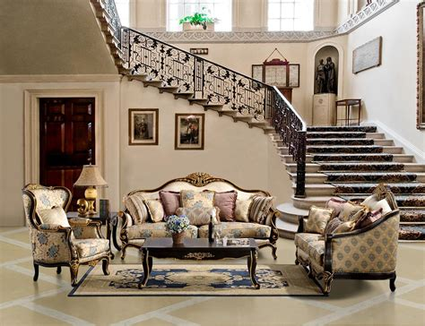 Living Room Furniture Traditional Style Luxurious Sofa And Loveseat Set Hd 385