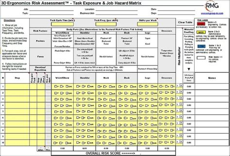 Ergonomic Assessment Form Free Templates Resume Exles J1akjbpgme Ergonomic Report Template