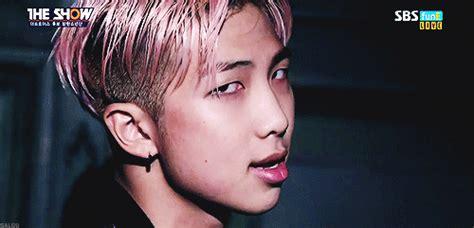 kim namjoon pink pink hair namjoon army s amino
