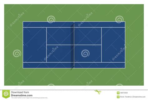 what color is a tennis tennis court us open tennis stock illustration image
