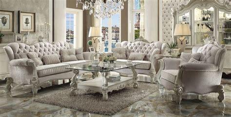 von furniture versailles large formal dining room set in von furniture versailles formal living room set in ivory