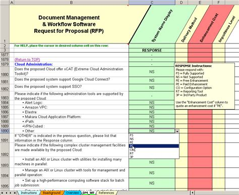 document management system template dms evaluation selection for document management system