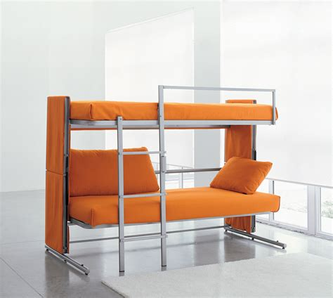 bed and couch in one doc a sofa bed that converts in to a bunk bed in two secounds