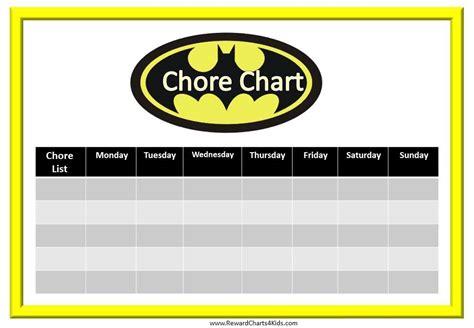 batman printable reward charts printable chore charts