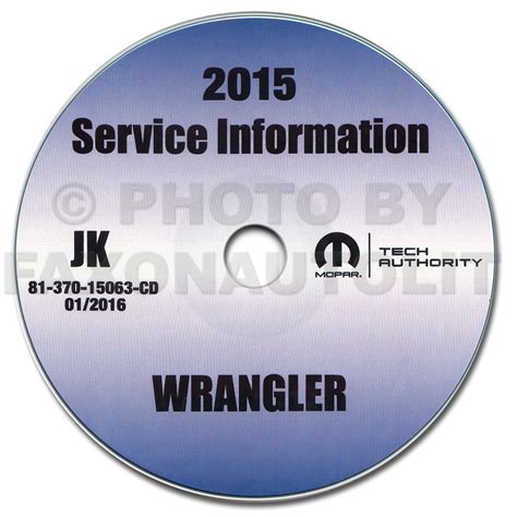 2015 jeep wrangler repair shop manual cd rom