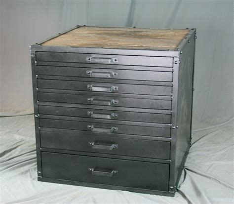 combine 9 industrial furniture vintage metal flat file