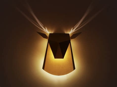 cool wall lights deer shaped wall l with cool antlers light effect