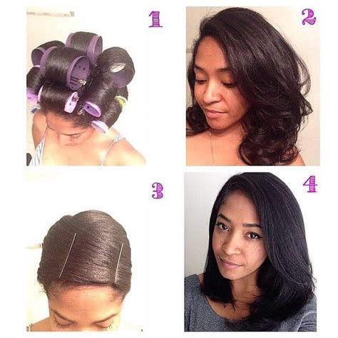 what type of hair is use for big box braids hair straightening with no heat use the big rollers to