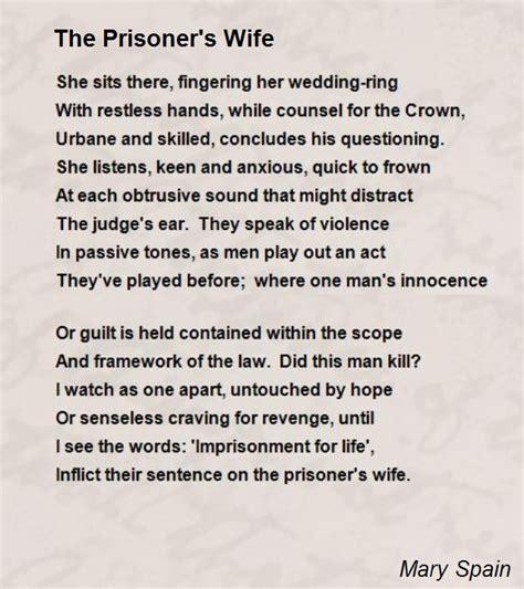 poems for husband in prison the prisoner s poem by spain poem