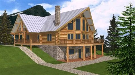 mountain home plans with walkout basement small mountain house plans with walkout basement youtube