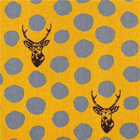 Canvas Laminating Polka Sedang yellow echino samber canvas laminate fabric stag with polka dots from japan laminates fabric