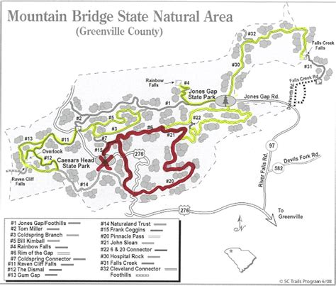 table rock state park map table rock state park sc trail map brokeasshome com