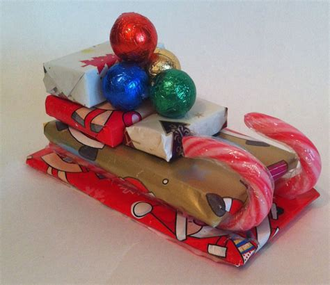 candy cane skeigh xmas craft sleigh gifts n bits crafts picture to pin on pinmash