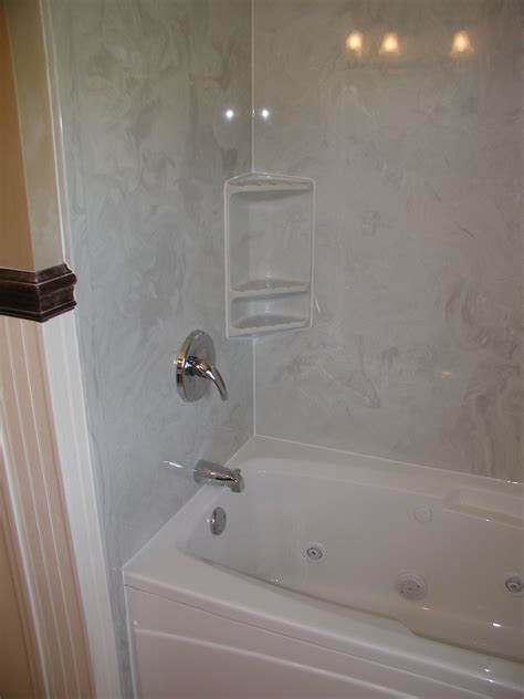 bathtub with wall surround solid surface shower surrounds full size of stone solid