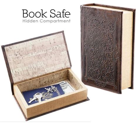 zero faux given books book safe brown faux w magnetic closure inner