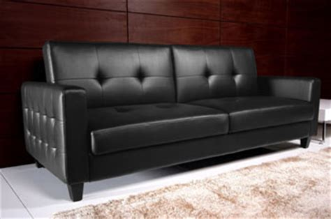 rome faux leather convertible sofa bed dhp rome sofa bed kitchen dining