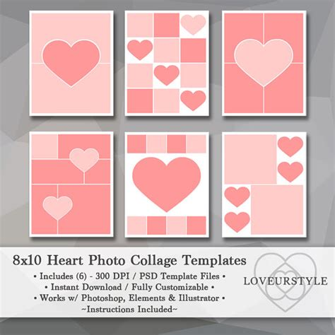 8x10 photo collage template 8x10 photo template pack templates photo collage