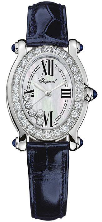 Chopard Ch7020 Oval Leather chopard 277465 1006 happy sport oval 5 floating diamonds