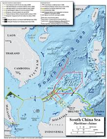 South China Sea Dispute Map by Territorial Claims Maps The South China Sea