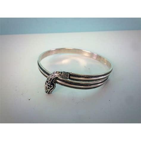 Bracelet One Size silver snake bangle bracelet one size catawiki