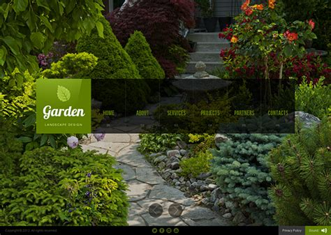 backyard landscape design templates garden landscape design html5 template on behance