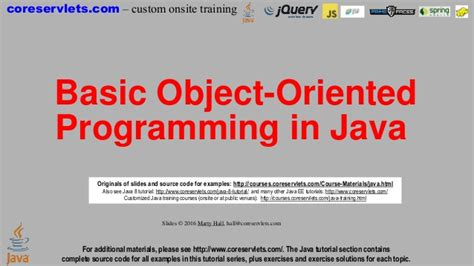 tutorial java object oriented programming java 8 programming tutorial object oriented programming