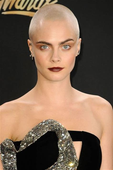 cara delevingne shaved head new haircut for movie