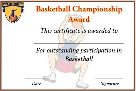 basketball c certificate template 27 professional basketball certificate templates free
