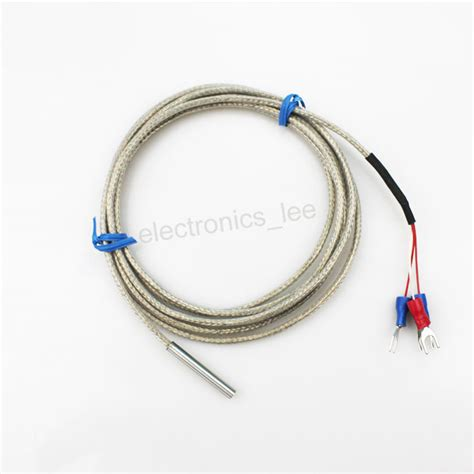 wire resistor temperature pt100 platinum resistance teflon three wire temperature sensor 9 99 picclick