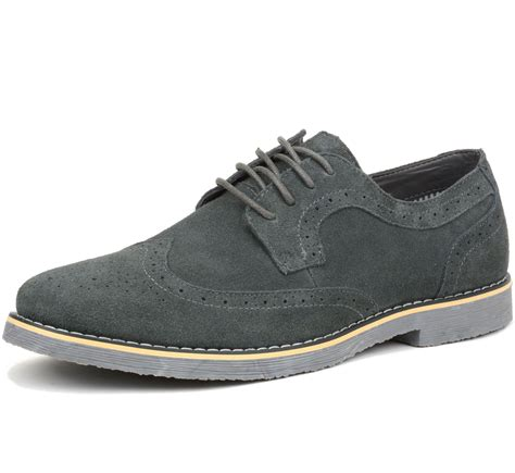 dress shoes oxfords alpine swiss beau mens dress shoes genuine suede wing tip