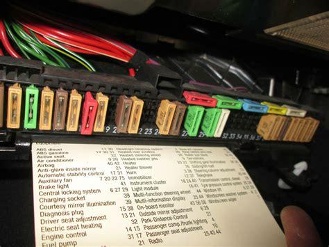 bmw  interior glove box fuse box