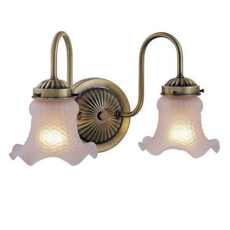 Hton Bay 2 Light Antique Brass Vanity Light Wb0329 Antique Brass Bathroom Lighting