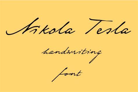 Nikola Tesla Signature 30 Best Free Handwriting Fonts For Designers In 2015