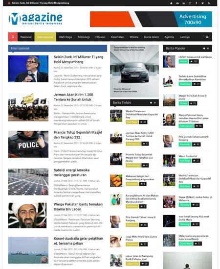 download template toko online lokomedia halaman kategori berita quot swarakalibata v 1 quot