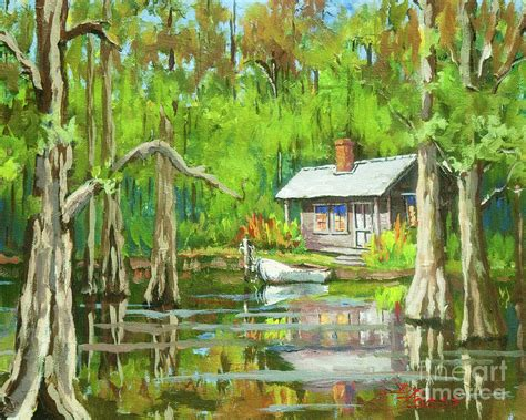 On The Bayou - on the bayou painting by dianne parks