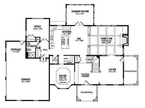 clawson georgian colonial home plan 034d 0075 house plans