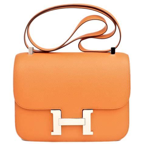 Home Hardware by Hermes Constance Bag 24cm Orange Epsom Palladium Hardware