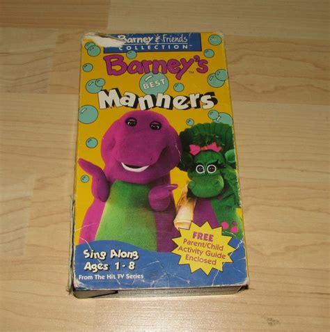 barney vhs barney s friends best manners ebay