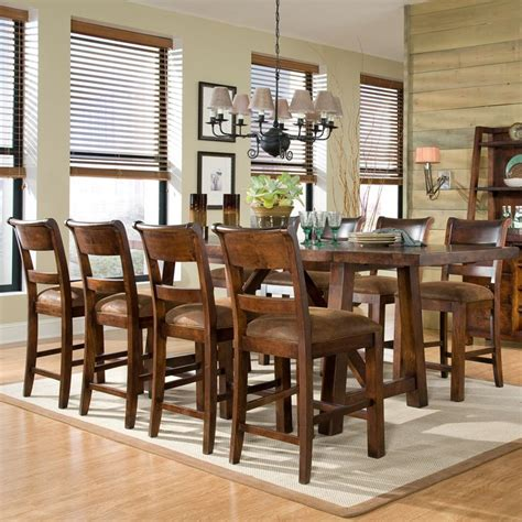 ine piece boca grande rectangular leg table sanibel bent woodland ridge counter height table stools legacy