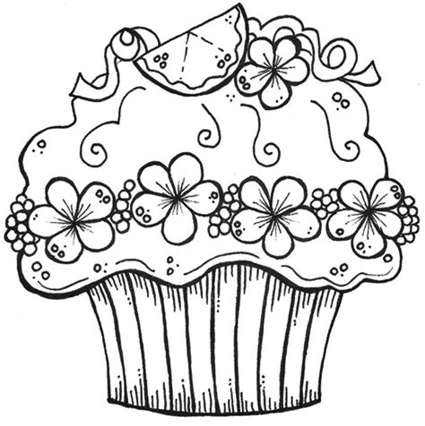 zentangle cupcake coloring pages adult coloring pages