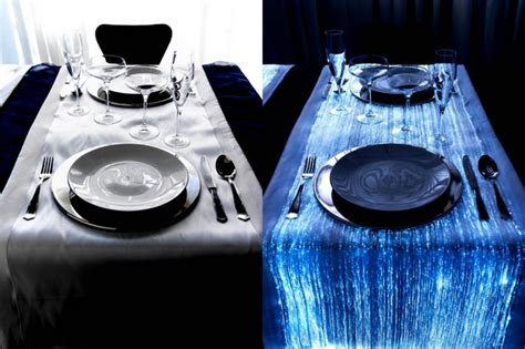fiber optic table ls fiber optic table runners for specific atmospheres