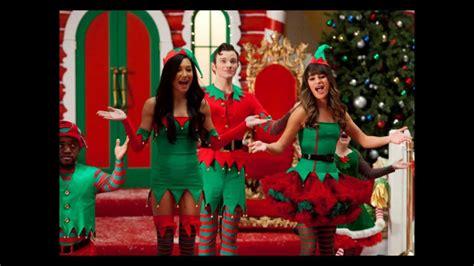rockin around the christmas tree glee cast version