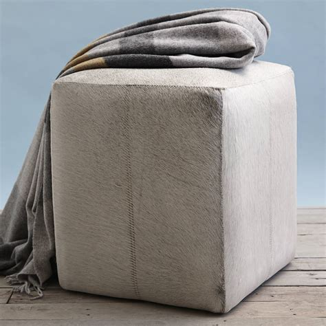 leather stool ottoman hide leather ottoman stool by of